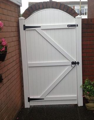 Upvc back gates